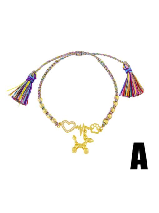 A Brass Enamel Smiley Vintage Bracelet