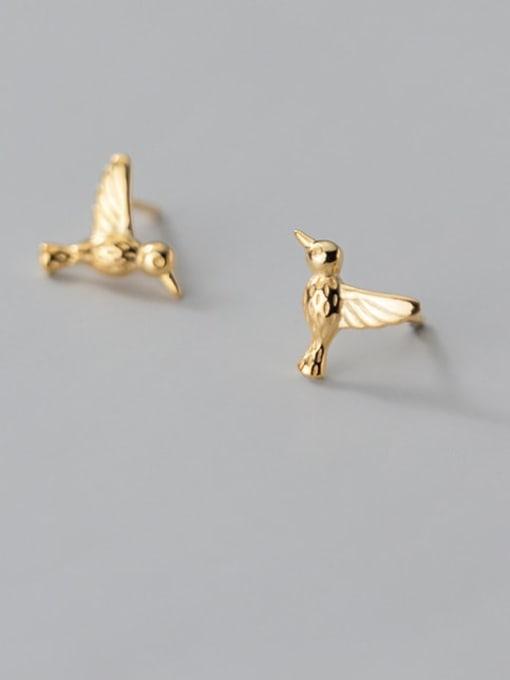 Rosh 925 Sterling Silver Bird Cute Stud Earring 2