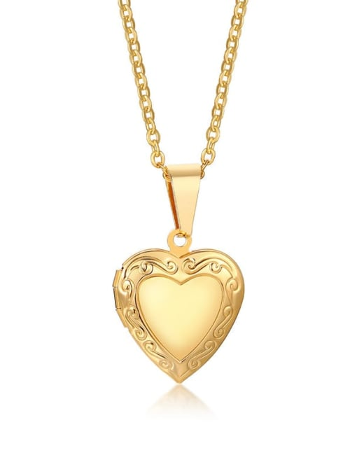 CONG Stainless steel Heart Minimalist Necklace 0