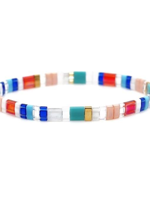 Roxi Stainless steel Multi Color TIla Bead  Geometric Bohemia Adjustable Bracelet 1