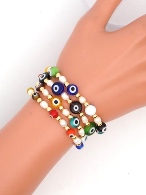 Roxi Stainless steel MGB Bead Multi Color Evil Eye Bohemia Beaded Bracelet 3