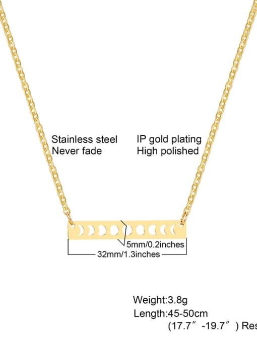 golden Titanium Steel Smooth Geometric Minimalist Necklace