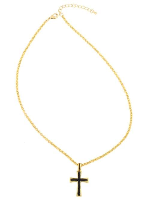 CC Copper Cubic Zirconia Cross Vintage Regligious  pendant 3