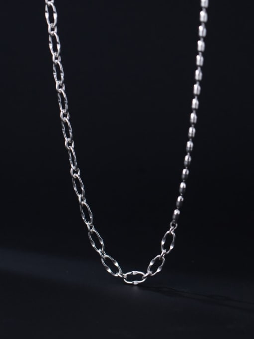 Rosh 925 Sterling Silver  Hollow Geometric Chain Minimalist Necklace 2