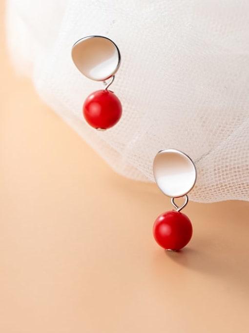 Rosh 925 Sterling Silver Enamel Geometric Minimalist Drop Earring 2