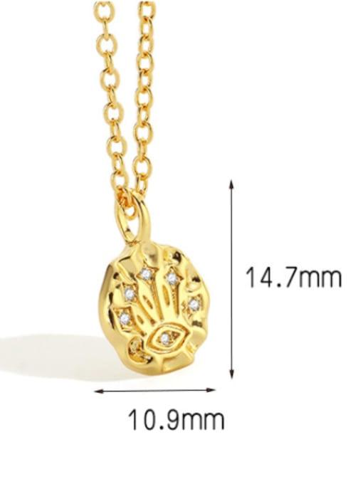 CHARME Brass Rhinestone Irregular Minimalist Necklace 3