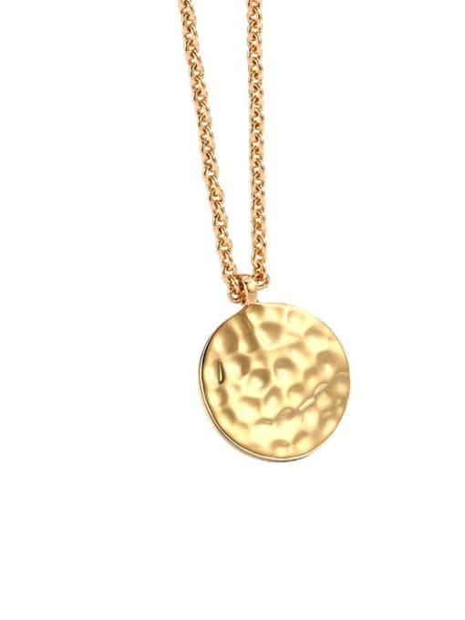 CHARME Brass Geometric Minimalist  Pendant Necklace 4