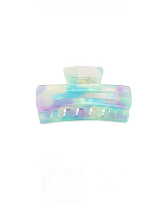 Magic purple green Cellulose Acetate Minimalist Geometric Zinc Alloy Multi Color Jaw Hair Claw