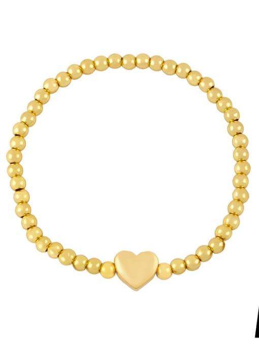 A (gold) Brass Star Minimalist Beaded Bracelet