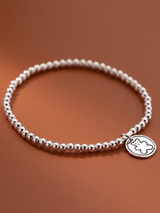 Rosh 925 Sterling Silver Bead Geometric Vintage Beaded Bracelet 3