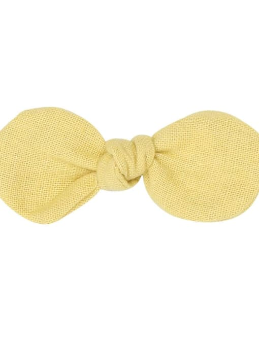 8 celery yellow hairpin Alloy Fabric Minimalist Bowknot  Multi Color Hair Barrette