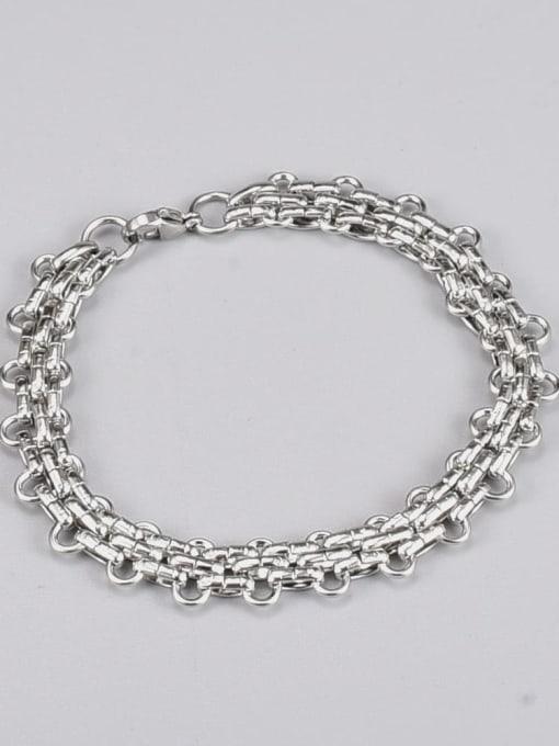 A TEEM Titanium Steel Irregular Vintage Link Bracelet 1