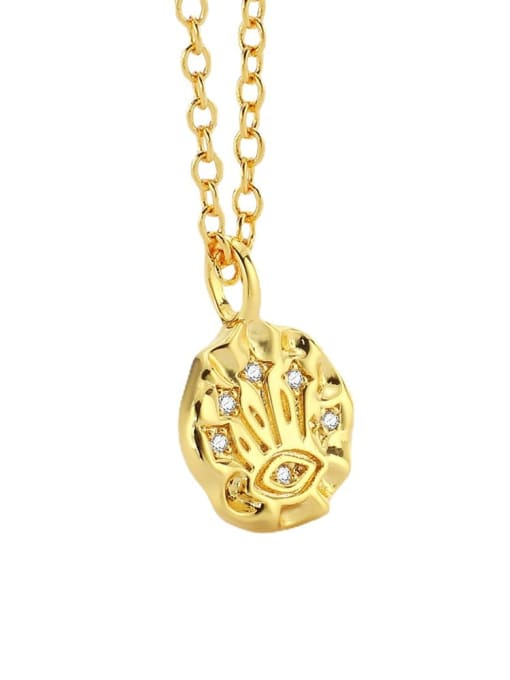 CHARME Brass Rhinestone Irregular Minimalist Necklace 2