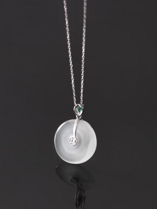Rosh 925 Sterling Silver Opal Geometric Minimalist Necklace 2