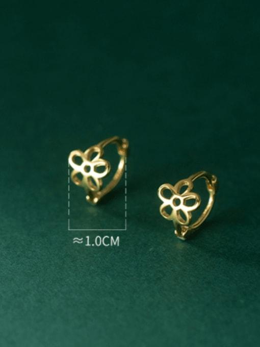 Rosh 925 Sterling Silver Hollow Flower Minimalist Stud Earring 2