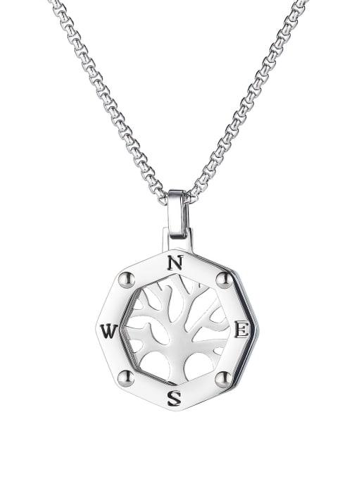 Open Sky Titanium Steel Hollow Tree of Life Hip Hop Necklace 4