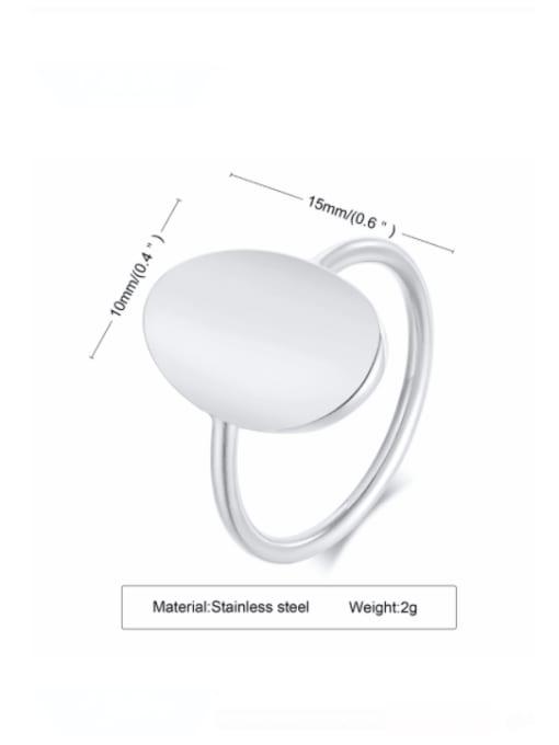 CONG Titanium Steel Smooth Geometric Minimalist Band Ring 3