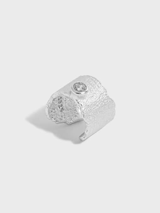 DAKA 925 Sterling Silver Rhinestone Irregular Minimalist Single Earring 0