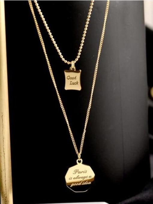 A TEEM Titanium Geometric Minimalist Multi Strand Necklace 2