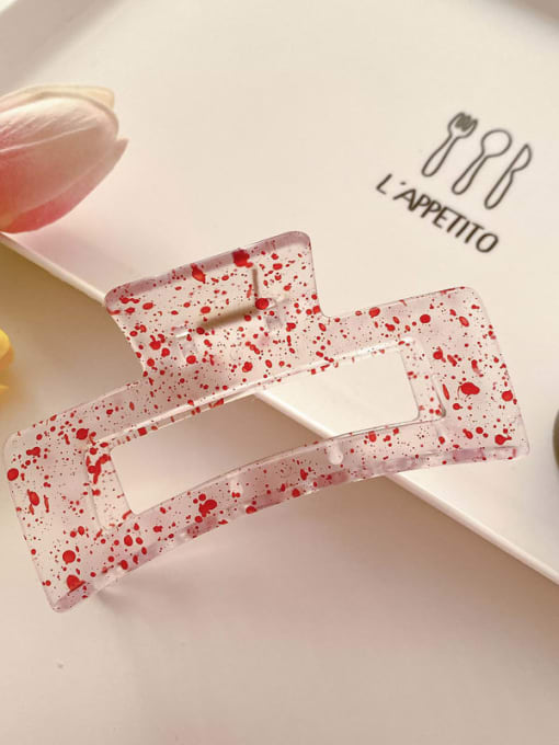 Red 10.5cm Cellulose Acetate Minimalist Geometric Jaw Hair Claw