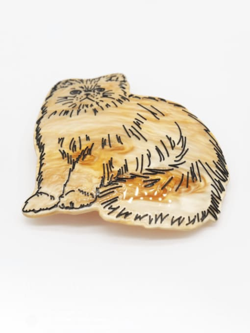 yellow Cellulose Acetate Cute Tiger Zinc Alloy Spring  Hair Barrette