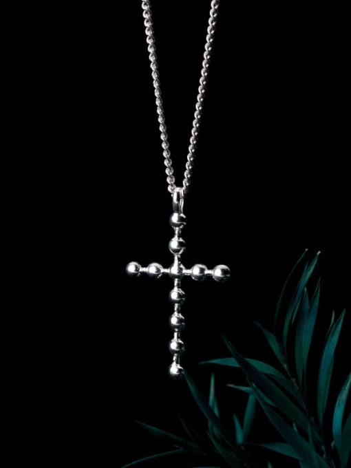 Rosh 925 Sterling Silver Cross Minimalist Pendant Necklace 0