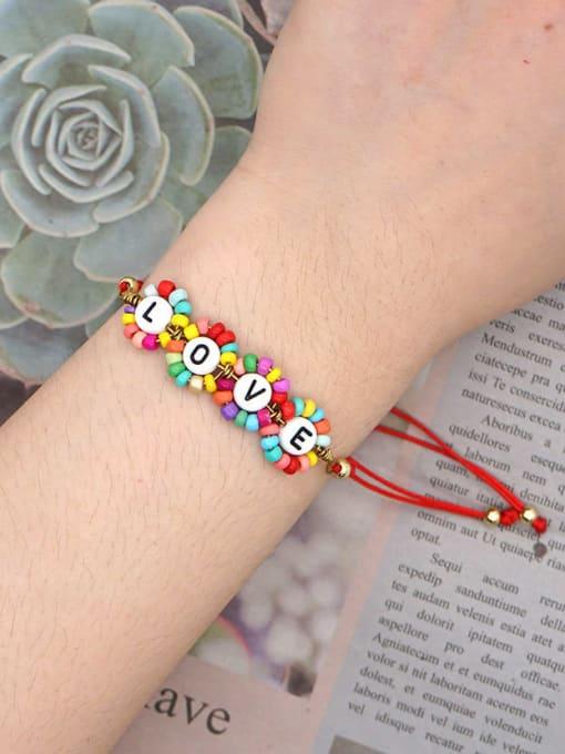 Roxi Stainless steel Miyuki beads Flower Bohemia Adjustable Bracelet 1