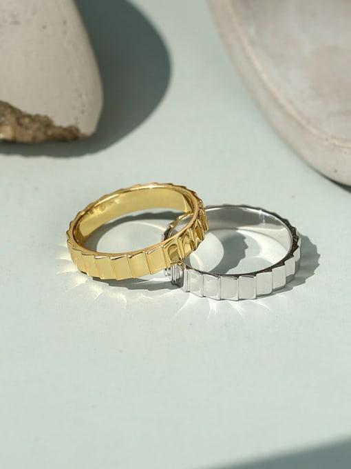 CHARME Brass Irregular Vintage Band Ring 1