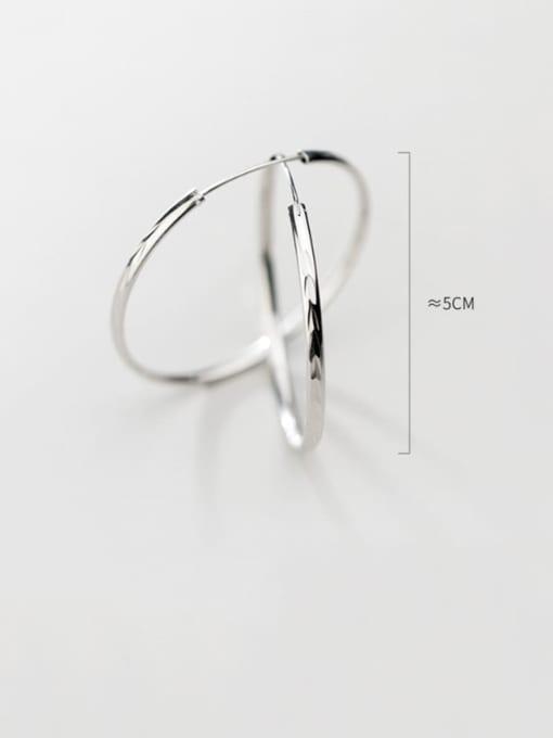 Rosh 925 sterling silver round minimalist hoop earring 2
