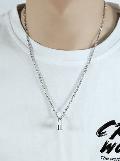 Open Sky Titanium Steel Key Minimalist Necklace 1