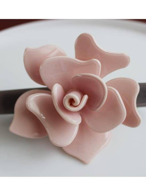 2 Cellulose Acetate Minimalist Flower Zinc Alloy Spring clip Hair Barrette