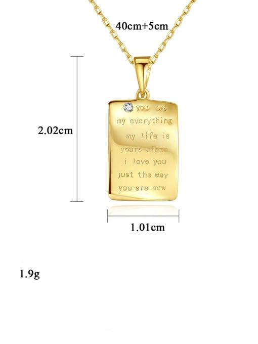 CCUI 925 Sterling Silver Letter Minimalist pendant Necklace 4