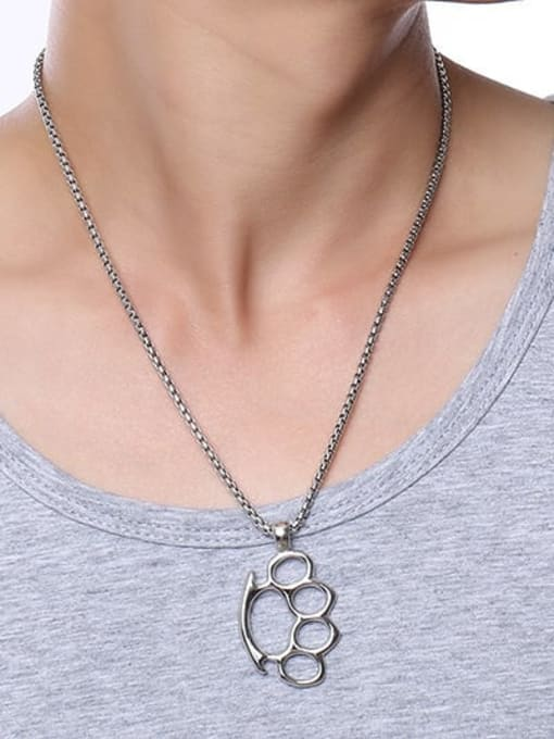 CONG Stainless steel Geometric Minimalist Necklace 1