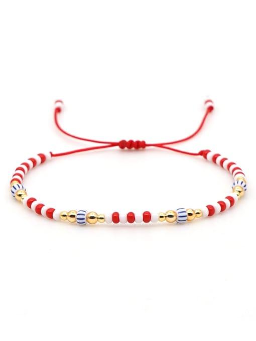 QT B200031B Stainless steel Miyuki beads Multi Color Geometric Bohemia Adjustable Bracelet