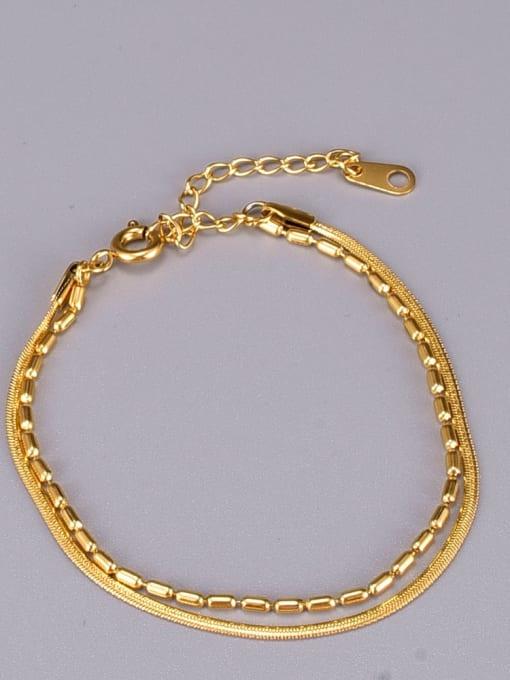 A TEEM Titanium Steel Snake Minimalist Strand Bracelet 2