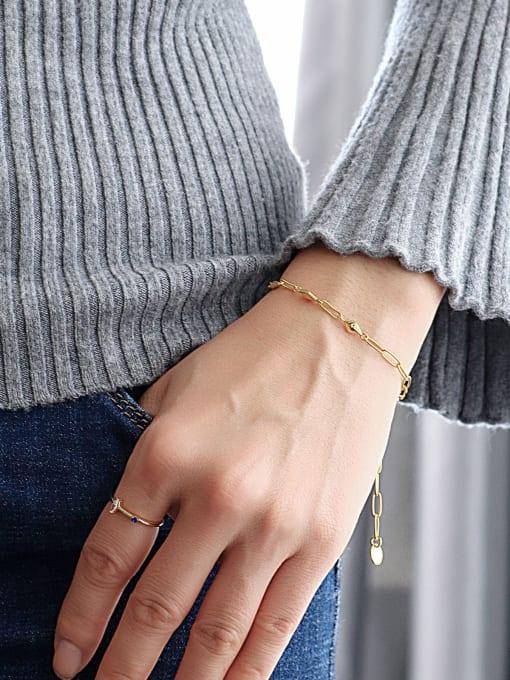 CHARME Brass Geometric Minimalist Link Bracelet 1