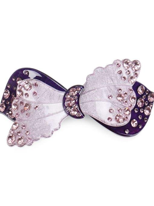 violet Cellulose Acetate Cute Butterfly Zinc Alloy Spring clip Hair Barrette