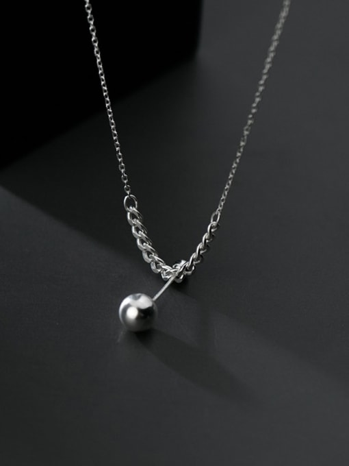 Rosh 925 Sterling Silver Ball Minimalist Necklace 4