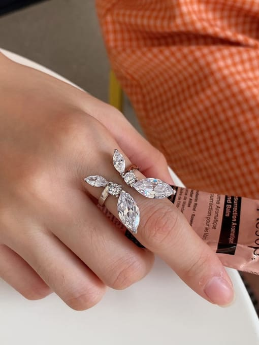 Boomer Cat 925 Sterling Silver Cubic Zirconia Butterfly Luxury Band Ring 1