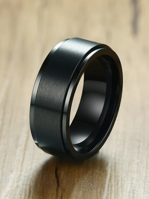 CONG Titanium Steel Round Minimalist Band Ring 1