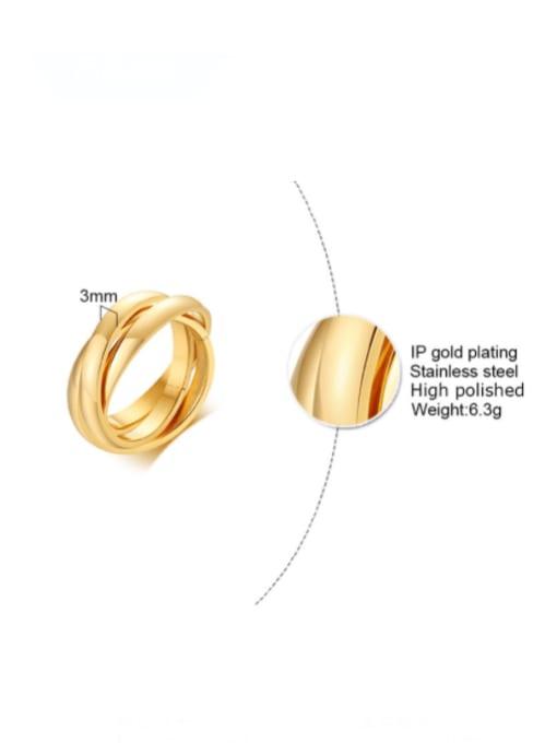 CONG Titanium Steel Geometric Minimalist Stackable Ring 1