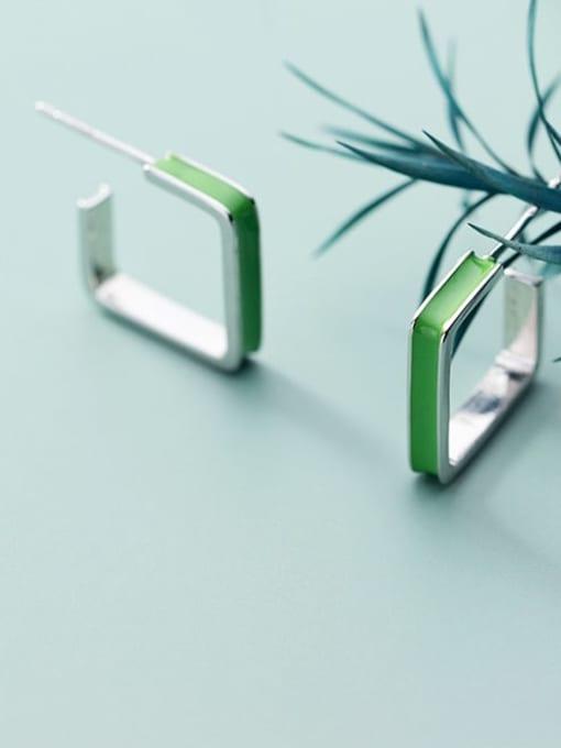 Rosh 925 Sterling Silver Enamel Geometric Minimalist Stud Earring 4