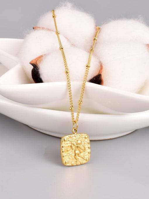 A TEEM Titanium Steel Square Minimalist Necklace