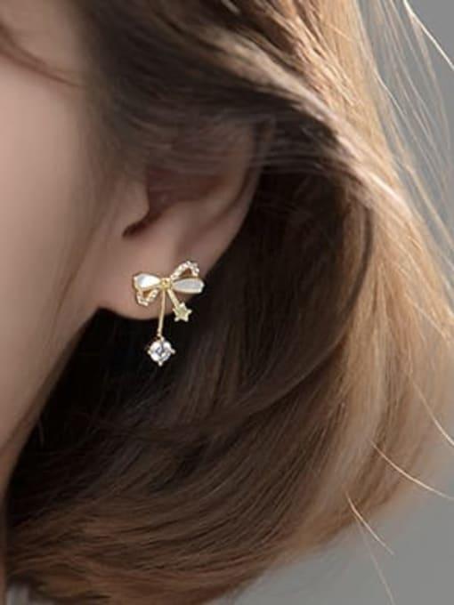 Rosh 925 Sterling Silver Cubic Zirconia Butterfly Minimalist Stud Earring 3
