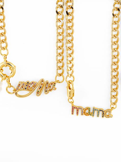 CC Brass Cubic Zirconia  Hip Hop Letter Pendant Necklace 1