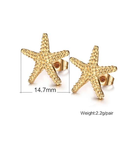 CONG Titanium Steel Star Vintage Stud Earring 2
