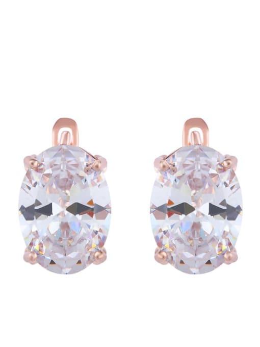 white Alloy Glass Stone Rosary Bohemia Stud Earring