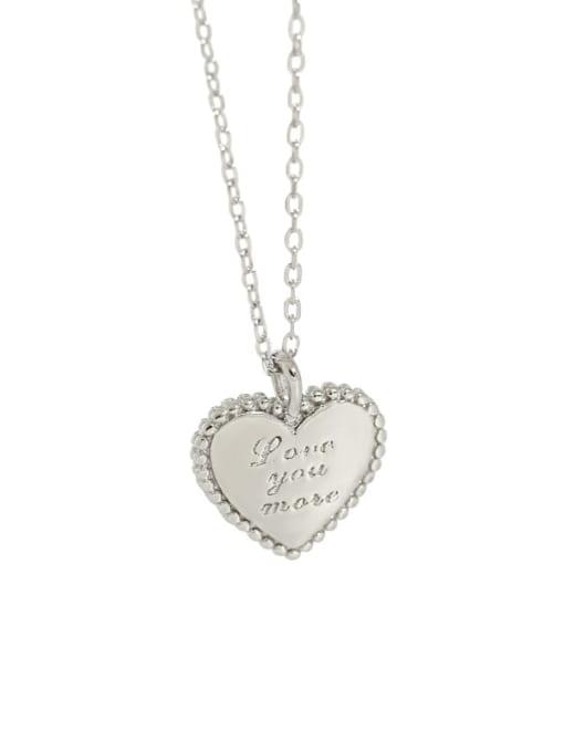 DAKA 925 Sterling Silver Heart Minimalist Necklace 4