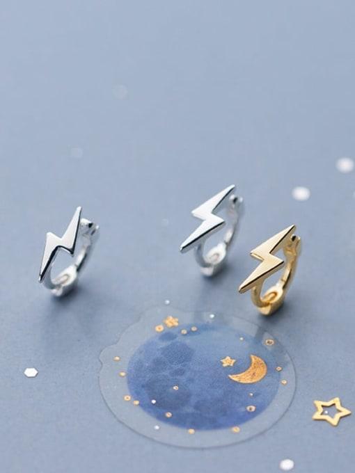 Rosh 925 Sterling Silver Irregular Minimalist Stud Earring 2