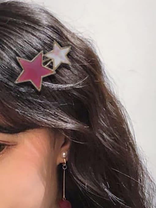 Chimera Alloy Cellulose Acetate Minimalist Star  Hair Pin 2